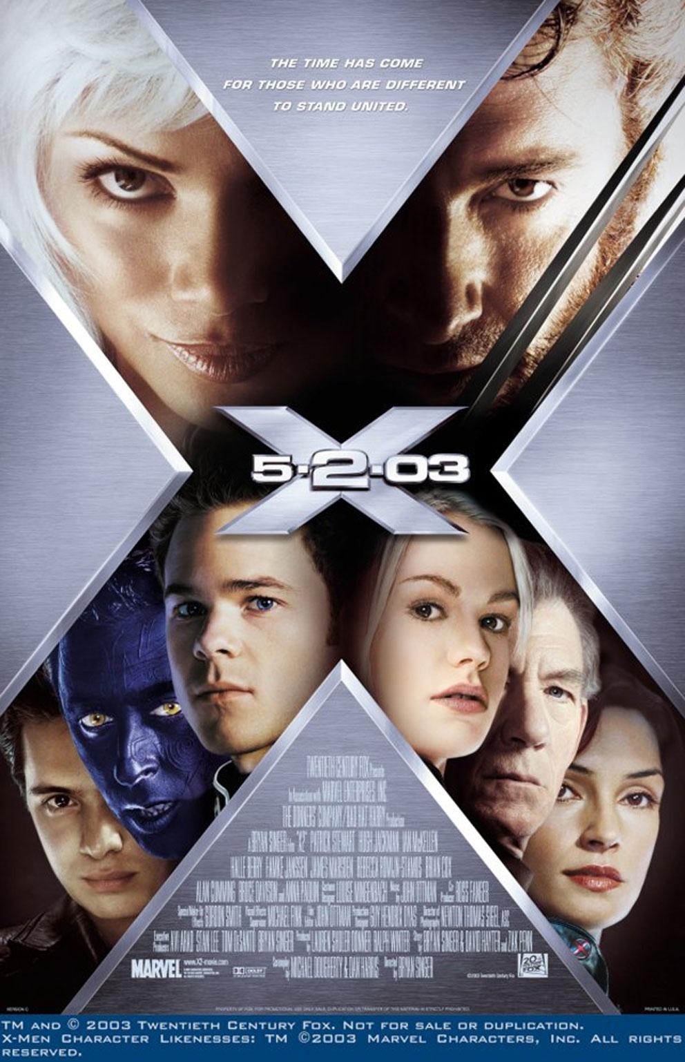 x men2 b - Hugh Jackman Film Posterleri